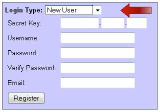 New Employee registration on Home Page