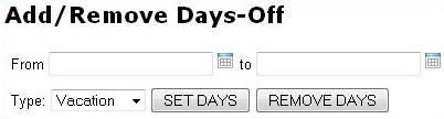 Add and remove days-off